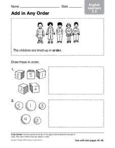 Add in Any Order Worksheet