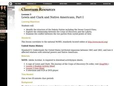 Lewis and Clark and Native Americans, Part I Lesson Plan