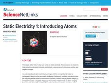 Static Electricity 1: Introducing Atoms Lesson Plan