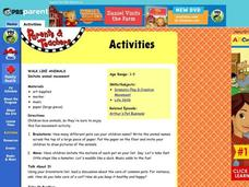 Walk Like Animals Lesson Plan