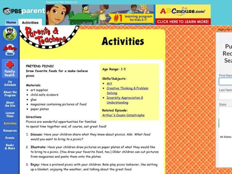 Pretend Picnic Lesson Plan
