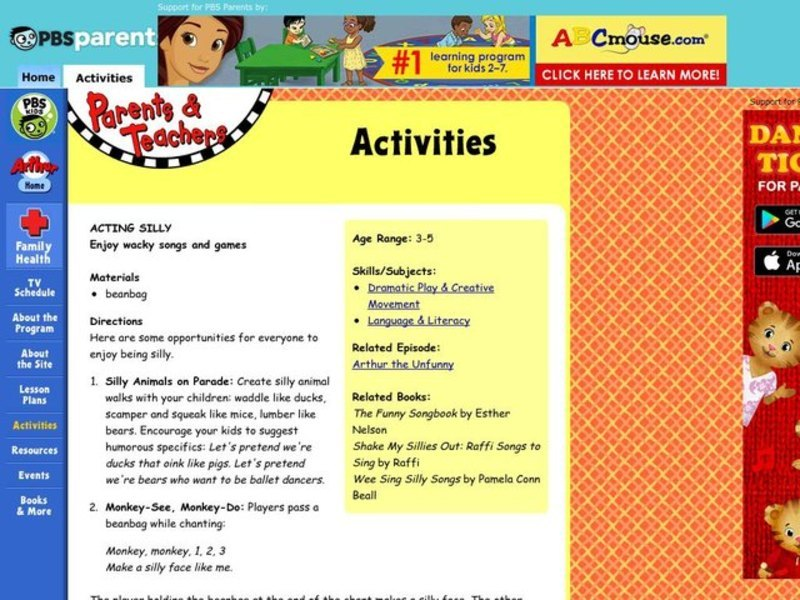 Acting Silly Lesson Plan