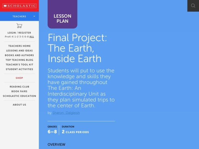 Final Project: The Earth, Inside Earth Activities & Project