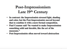 Post-Impressionism in the Late 19th Century Presentation