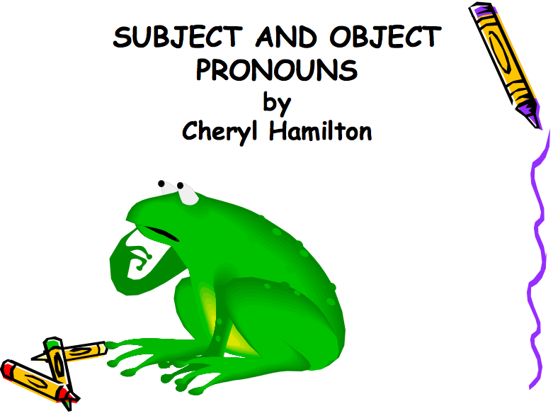 Subject and Object Pronouns Presentation