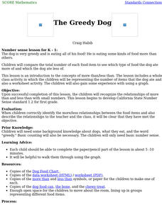 The Greedy Dog Lesson Plan for Kindergarten   Lesson Planet