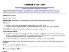 Hershey Fractions Lesson Plan