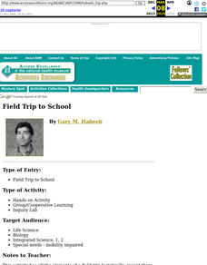 Field Trip to School Lesson Plan
