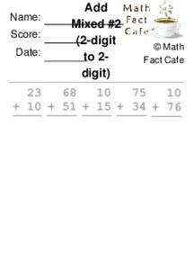 Add Two Digit Numbers Worksheet