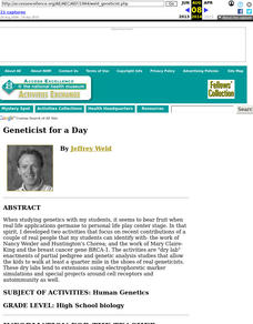 Geneticist for a Day Lesson Plan
