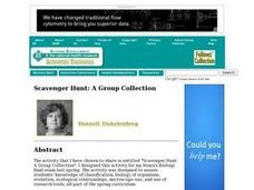 Scavenger Hunt: A Group Collection Lesson Plan