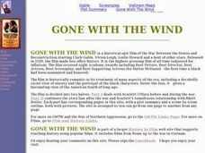 Gone with the Wind Home Page Lesson Plan