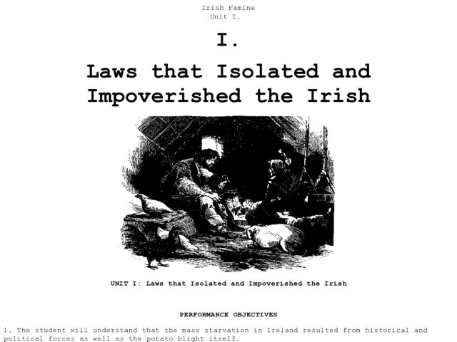 Laws that Isolated and Impoverished the Irish Lesson Plan