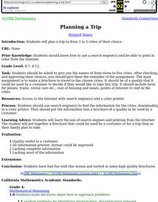 Planning a Trip Lesson Plan