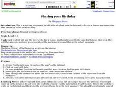 Sharing Your Birthday Lesson Plan