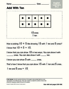 Add With Ten Worksheet