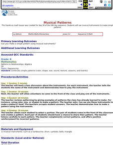 Musical Patterns Lesson Plan