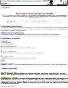 Eastern Woodland and Plains Indians Lesson Plan