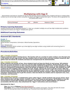 Multiplying with Egg O Lesson Plan