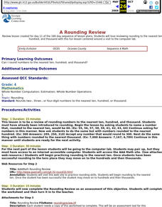A Rounding Review Lesson Plan