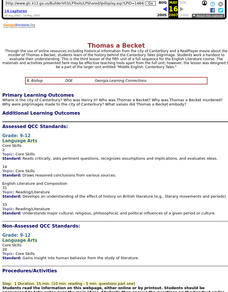 Thomas a Becket Lesson Plan
