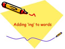 Adding -ing to Words Presentation