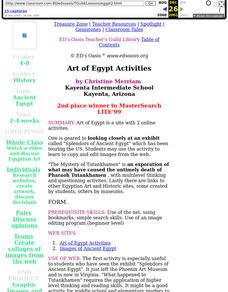 Art of Egypt Activities Lesson Plan