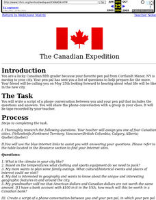 The Canadian Expedition Lesson Plan