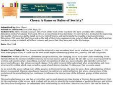 Chess - A Game or Rules of Society? Lesson Plan