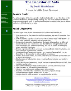 The Behavior of Ants Lesson Plan