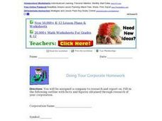 Doing Your Corporate Homework Activities & Project
