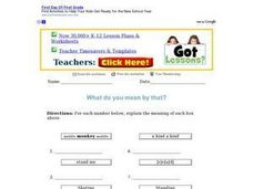 Critical Thinking Word Activities Worksheet