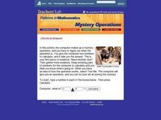 Mystery Operations: Math, Patterns, Logic Lesson Plan
