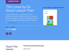 The Lorax by Dr. Seuss Lesson Plan Lesson Plan
