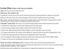 Origins of the American Republic Lesson Plan