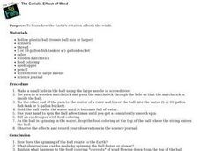 The Coriolis Effect of Wind: Weather, Earth's Rotation Lesson Plan