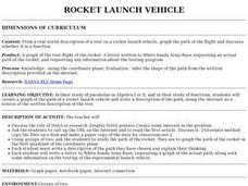 Rocket Launch Vehicle Flight Path Lesson Plan