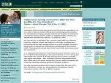 Professional Learning Communities: What Are They and Why Are They Important? Lesson Plan