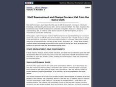 Staff Development and Change Process: Cut from the Same Cloth Lesson Plan