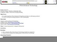 Petrochemical Technology Lesson Plan