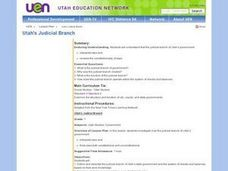Utah's Judicial Branch Lesson Plan