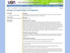 An Orderly Wagon Train Migration Lesson Plan