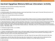 Ancient Egyptian History/African Literature Activity Lesson Plan