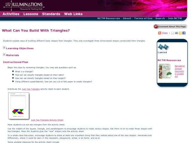 What Can You Build With Two Triangles? Lesson Plan