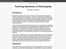 The Awareness of Stereotyping Lesson Plan
