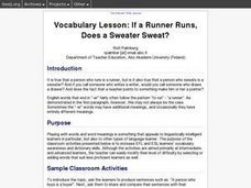 If a Runner Runs, Does a Sweater Sweat? Lesson Plan