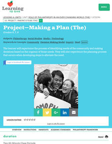 The Role of Philanthropy in an Ever-Changing World:  Making a Plan Lesson Plan