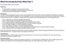 Word Processing Activity: FBLA Flyer 1 Lesson Plan