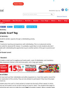 Rollerblade Scarf Tag Lesson Plan