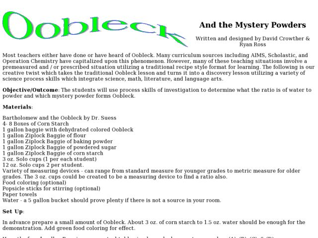 Bartholomew and the Oobleck Lesson Plans & Worksheets